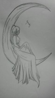 Easy Pencil Drawings, Pencil Sketch Drawing, Sad Drawings, Girl Drawing Sketches, Art Drawings Beautiful, Girly Drawings, Art Drawings Sketches Simple, Drawing Ideas, Easy Simple Drawings