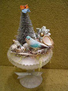 Winter Woodland Bird Assemblage by Katie Runnels, via Flickr
