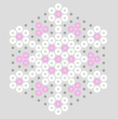 7 idées de flocons de neige : These snowflakes have been enhanced with one of each of the pastel colours. Of course, they'd look good with any other colour too, particularly the recent gold, silver and bronze Hama Beads Perler Bead Designs, Perler Bead Templates, Hama Beads Design, Perler Bead Art, Pearler Bead Patterns, Perler Patterns, Christmas Perler Beads, Art Perle, Motifs Perler