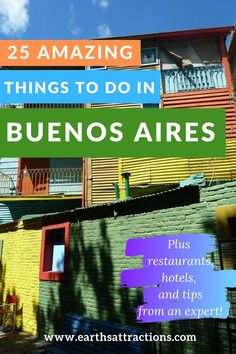 25 Amazing thinfs to do in Buenos Aires: this article includes both tourist attractions in Buenos Aires as well as off the beaten path things to do in Buenos Aires. Best food accommodation and Buenos Aires tips are also included. South America Destinations, South America Travel, Travel Destinations, Holiday Destinations, Best Travel Guides, Travel Tips, Travel Packing, Travel Ideas, Argentina Travel