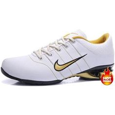 www.asneakers4u.com Mens Nike Shox R2 White Gold Black