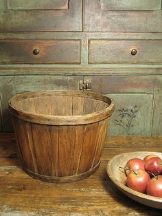 Fabulous Early Old Antique Shaker Basket ~ Patina!   $145