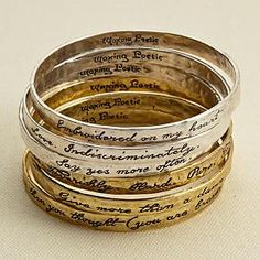 An amazing reminder to really live with all you've got.....right there on your pretty little wrist!