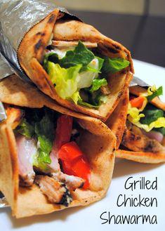 Grilled Chicken Shawarma  - make your favorite Mediterranean restaurant sandwich at home (it's healthier, too!)