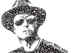 Amazing Typography Picture Of Scott Weiland Made Out Words