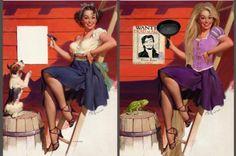 Disney Princesses from Gil Elvgren Pin-Ups | Inked Magazine
