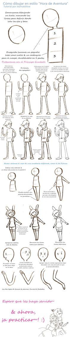Como dibujar en estilo Hora de Aventura TUTORIAL by xtomatolove.deviantart.com on @DeviantArt