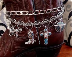 Boot Jewelry, Boot Bracelet, Boot Bling, Boot Charms, Boot Chain, Western Boot Jewelry, Bracelet, Cowgirl Jewelry, Cowgirl Boot Bracelet