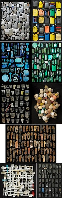 "Found in Nature"" Turns Pollution into the Solution. Barry Rosenthal is a New York photographer who stumbled onto using trash as an artistic medium after years of shooting plants in nature and realizing there was so much garbage littering these areas. Found Object Art, Found Art, Theme Color, Trash Art, Photocollage, Gcse Art, Assemblage Art, Vanitas, Sculpture"