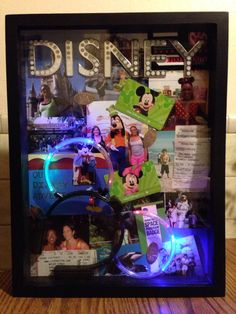 Disney World Shadow Box. HAVE to do this with all the pics I got from Disney! plus I kept our tickets and 1st Time visit button!