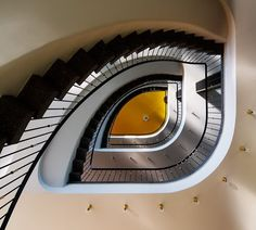 does this staircase look like an eye on purpose?  Or just photographers angle?