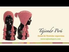 Gorros con trenzas caladas en dos agujas o palitos - Tejiendo Perú - YouTube