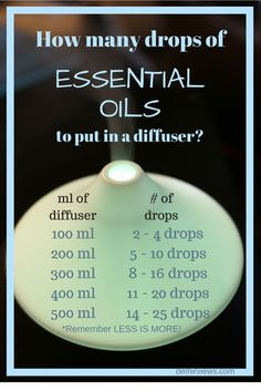How-many-drops-of-Find out how many drops of essential oils to use for your diffuser!
