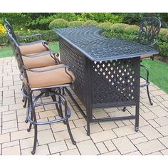 8aaafdcbfab Shop for Buckingham Sunbrella Cast Aluminum 5-piece Bar Set. Get free  delivery at