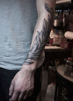 Elegant Leaf and Branch Tattoo Ideas