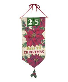 Another great find on #zulily! Poinsettia Christmas Countdown Wall Art #zulilyfinds