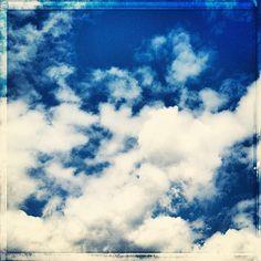 #beautiful #cumulous #clouds in the #blue #sky - @nochesazules- #webstagram