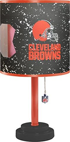 NFL Cleveland Browns Table Lamp with Die Cut Lamp Shade -- More info could be found at the image url. (This is an affiliate link and I receive a commission for the sales)