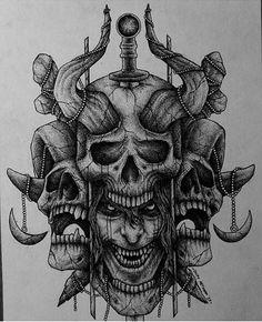 Calaveras Skull Tattoo Design, Skull Tattoos, Leg Tattoos, Body Art Tattoos, Sleeve Tattoos, Tattoo Designs, Tattoo Sketches, Tattoo Drawings, Art Sketches