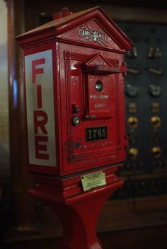 A Gamewell fire alarm box on display in our museum JpM ENTERTAINMENT