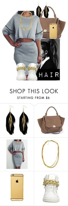 """""""Trap Queen"""" by missk2blue ❤ liked on Polyvore featuring Miso, Goldgenie and Giuseppe Zanotti"""