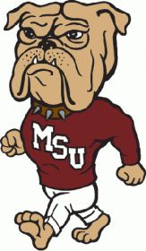 0-Pres Mississippi State Bulldogs Mascot Logo Iron On Sticker (Heat Transfer)