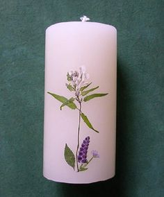 ZALAC: Pressed Flower Candle #0715 http://lumierespournosdefunts.blogspot.fr/