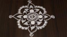 EASY FREE HAND KOLAM DESIGNS | SIMPLE AND BEAUTIFUL FLOWER RANGOLI Rangoli Patterns, Rangoli Designs With Dots, Kolam Designs, Simple Rangoli Kolam, Flower Rangoli, Traditional Art, Simple Designs, Free Design, Beautiful Flowers