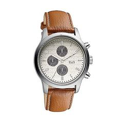 cfa053f6cd50 Men s tan chronological leather strap watch - Mens watches - Watches    jewellery - Gifts