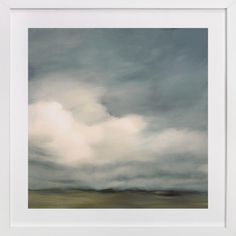 LOVE the colors and soft drama and BIG SKY!  Above fireplace: First of October by Kelly Money at minted.com