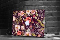 """Reserved for Kassandra - Midnight Floral Medley Skin Decal for Apple Macbook Air & Mac Pro Retina , New Macbook 12"""""""