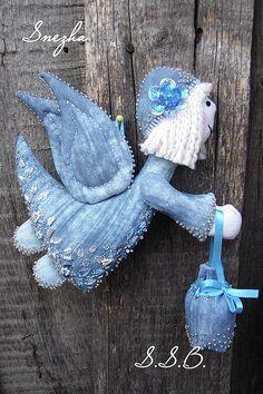 Купить Звездный Ангел - голубой, ангел, ручная работа handmade, авторская игрушка, Вышивка бисером