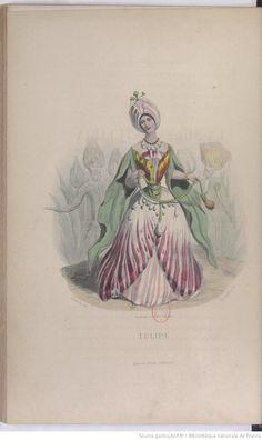Les fleurs animées. Tome 1 / par J.-J. Grandville ; texte par Alph. Karr, Taxile Delord et le Cte Foelix