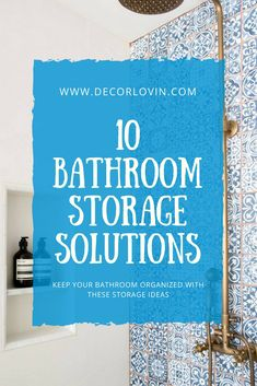 A shower shelf is an awesome idea to keep your shower clean and organized. Diy Home Decor On A Budget, Decorating On A Budget, Unique Home Decor, Bathroom Storage Solutions, Shower Shelves, Décor Boho, Diy Craft Projects, Diy Crafts, Decoration