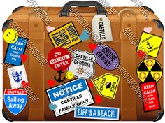 8.5 x 6.5 Colorful Cruise Suitcase Magnet. You can choose between Disney and Non-Disney Version which would be nice on other cruise lines. This magnet is individually cut out, laminated, and a magnet is attached to the back. We can swap out phrases upon request. ** The magnet will not stick to aluminum or stainless steel surfaces. Please check with your cruise line if they allow magnets and/or if the door to your stateroom is metal. Some doors including DCL Concierge levels have a wood…