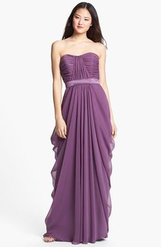 Another Maid of Honor potential... if u get something with a belt or sash, this would be a nice pairing! @tinynoodles Lela Rose Bridesmaid Draped Chiffon Dress available at #Nordstrom
