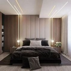 32 Fabulous Modern Minimalist Bedroom You Have To See - Everywhere you look you . 32 Fabulous Modern Minimalist Bedroom You Have To See – Everywhere you look you find things are b House Ceiling Design, Ceiling Design Living Room, Bedroom False Ceiling Design, Luxury Bedroom Design, Master Bedroom Design, Bedroom Designs, Modern Ceiling Design, Master Bedrooms, Hotel Bedrooms