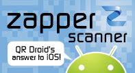 Zapper Scanner 1.1 released today - QR Droid's answer to iOS!