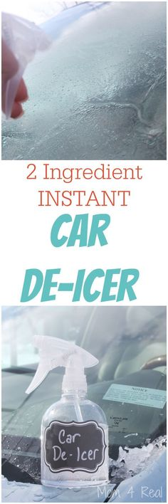 2 Ingredient Homemade Car De-Icer Spray - Removes Ice In Seconds: 2 parts Isopropyl Alcohol (70-91%) and 1 part water