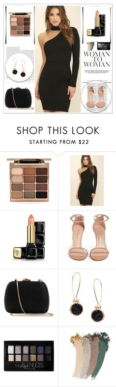 """""""Black :)"""" by merima-699 ❤ liked on Polyvore featuring Stila, LULUS, Guerlain, Stuart Weitzman, Serpui, Humble Chic, Maybelline and Gucci"""