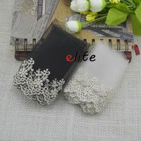 10cm white black eyelet wavy lace trimmings garment accessories lace trim ribbon wedding dress cluny sewing material embroided