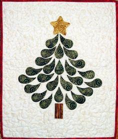 Christmas Tree quilt by Sandi Delman at Kwiltn Kats