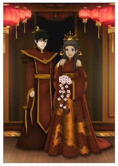 Zutara wedding bells by Kuro-Akumako.deviantart.com on @deviantART