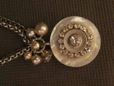 Vintage mother of pearl button necklace, can be worn in three different lengths. Follow D. Wallace Designs on Facebook or purchase necklace for $40.00