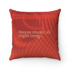Square Pillow Underwater House Music All Night Long | Etsy #redcushion #redgift #housemusicgift #housemusiccushion #housemusicart #dancemusicgift Cushions For Sale, Red Cushions, Underwater House, Music Gifts, Boy Art, House Music, Uk Shop, Throw Pillows, Prints