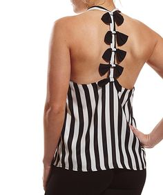 Loving this Coveted Clothing Black & White Stripe Tank - Women on #zulily! #zulilyfinds
