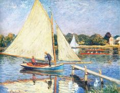 Boaters at Argenteuil, 1874, Claude Monet