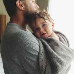 bath time, hug, father, daddy