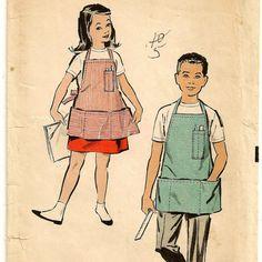 An Adorable, Functional Workshop or Cobbler Apron for Boys & Girls, Vintage 1950s