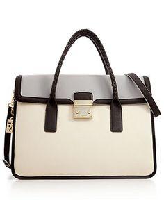 DKNY Handbag, Vintage Large Flap Satchel.   Gorgeous~